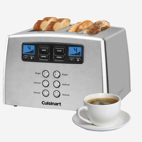 Cuisinart - Countdown Lever-less 4 Slice Toaster - CPT440C