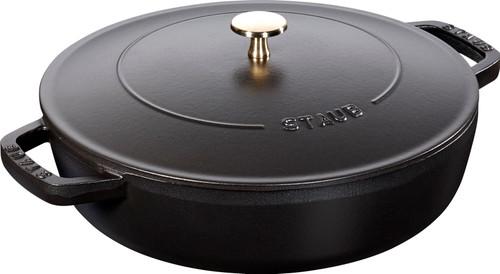 Staub - 2.4 L (2.5 QT) Black Chistera Drop Braiser