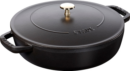 Staub - 3.8L (4 QT) Black Chistera Drop Braiser