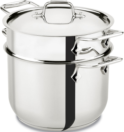 All-Clad - 6QT Stainless Steel Pasta Pot with Insert - E414S664