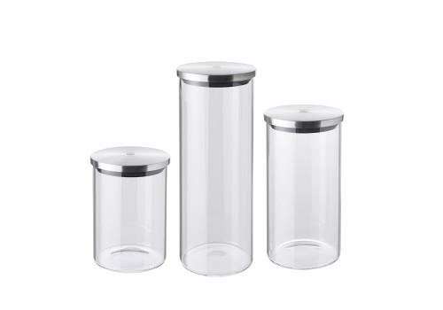 Zwilling J.A. Henckels - 3 Piece Glass Storage Jar Set