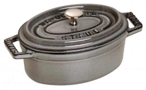 Staub - .25QT / .23L Grey Oval Mini Cocotte - 40500-116