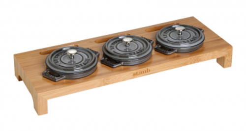 Staub - Bamboo Stand for 3 Mini Cocottes - 40510-299