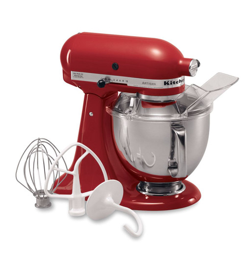 KitchenAid - Empire Red Artisan Series 5QT Tilt Head Stand Mixer - KSM150PSER