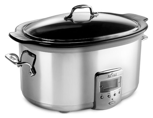 All-Clad - 6.5 QT Electrics Stainless Steel Electric Slow Cooker - SD700450
