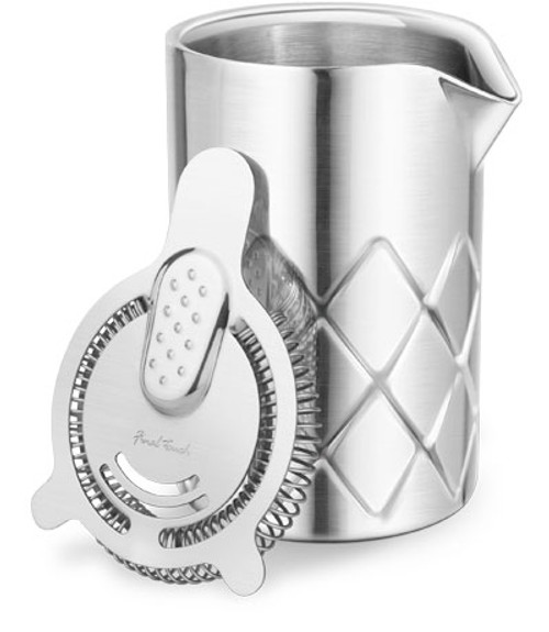 Final Touch - Stainless Steel Yarai Mixing Pitcher with Strainer - SMP130