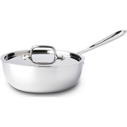 All-Clad - 2 QT Stainless Saucier Pan - 4212