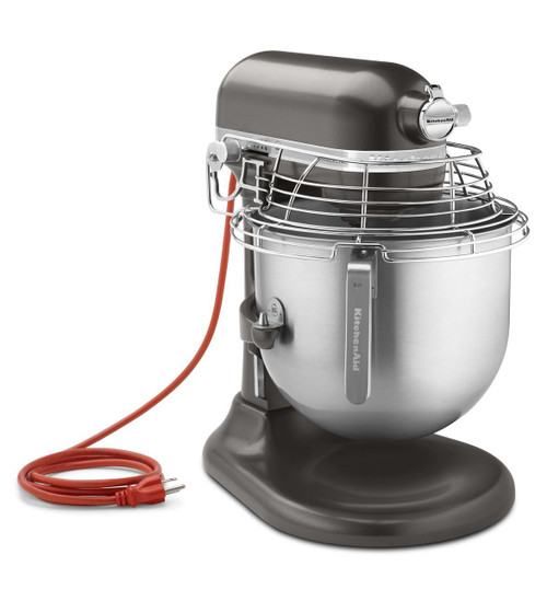 KitchenAid - Dark Pewter 8 Qt Commercial Stand Mixer With Gaurd - KSMC895DP