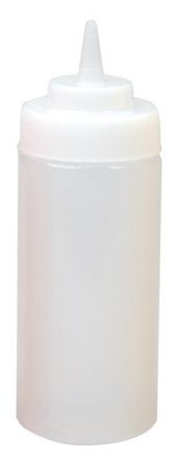 Winco - 32 Oz Clear Plastic Wide Mouth Squeeze Bottle - PSW-23