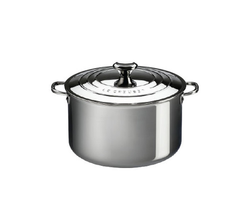 Le Creuset - 10.4 L (11 QT) Stainless Steel Stockpot with Lid