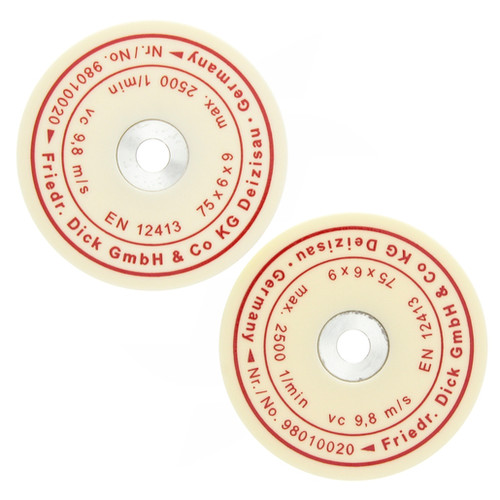 F. DICK - Set of 2 Replacement Ceramic Honing Wheels - 982090251