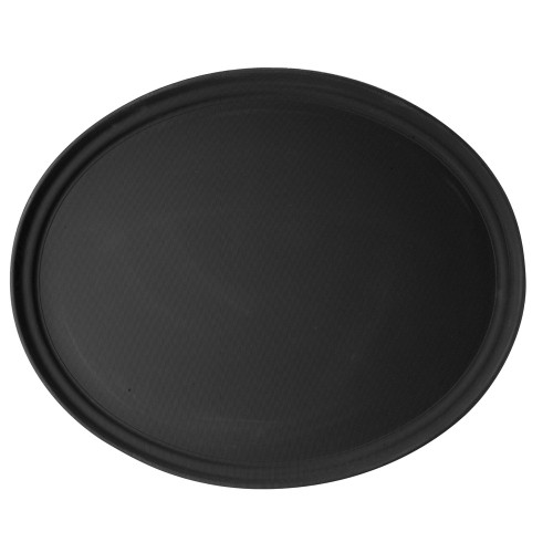 "Cambro -  22"" x 27"" Black Oval Serving Tray - 2700CT110"