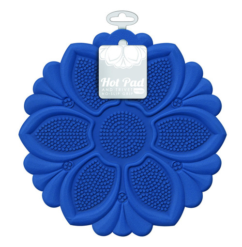 Talisman Designs - Royal Blue Lily Hot Pad and Trivet