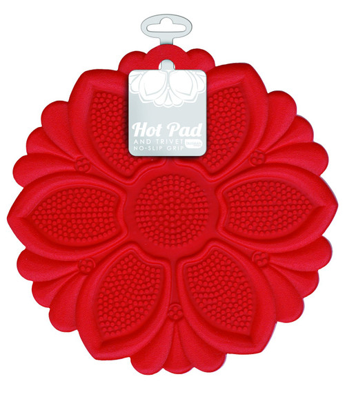 Talisman Designs - Red Lily Hot Pad and Trivet