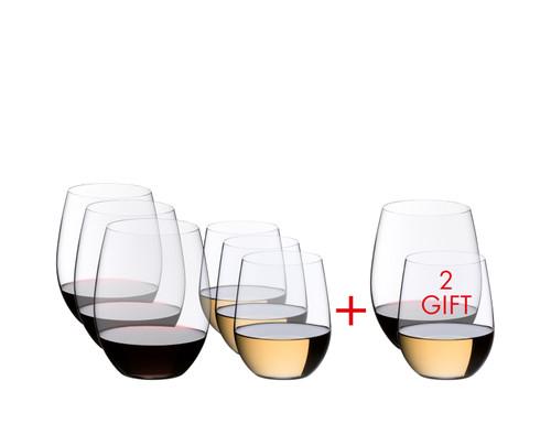 Riedel - O Series Merlot/Chardonnay Glass Set - Buy 6, Get 8