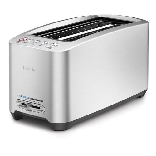 Breville - Die-Cast 4-Slice Long Shot Stainless Steel Smart Toaster - BREBTA830XL