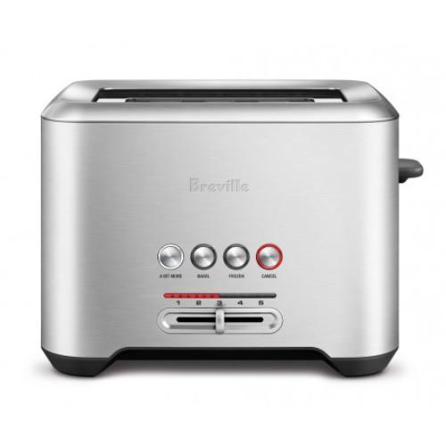 Breville - Die-Cast Bit More 2-Slice Long Shot Stainless Steel Toaster