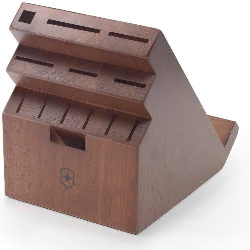 Victorinox - 11 Slot Dark Wood Swivel Block