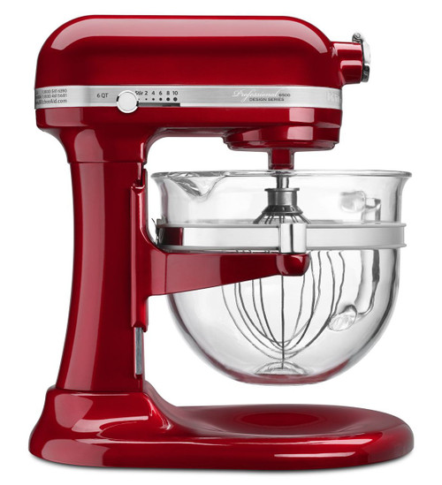 KitchenAid - Candy Apple Red Professional 6500 Series 6QT Stand Mixer - KSM6521XCA