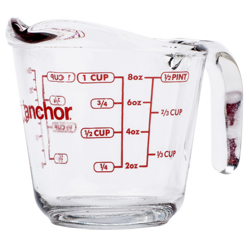 Anchor Hocking - 1 Cup (.2L) Glass Measuring Cup - 55175OL