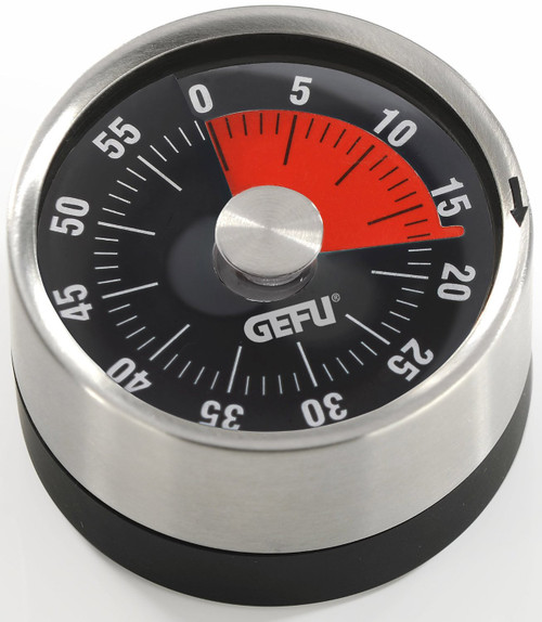 GEFU - Stainless Steel Plastic Wind Up Magnetic Mechanical 60 Minute Timer - GF12300