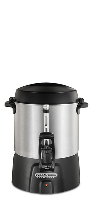 Proctor Silex - 40 Cup Aluminum Commercial Coffee Urn - 45040