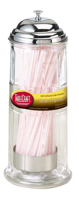 Tablecraft - Diner Collection Old Fashioned Straw Dispenser - B714CH