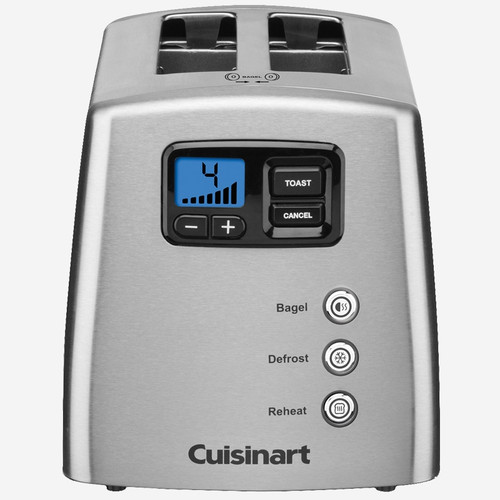 Cuisinart - Countdown Lever-less 2 Slice Toaster - CPT420C