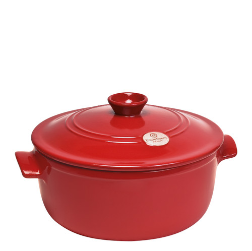 Emile Henry - Fusain (Pepper) Round Stewpot - 91794540
