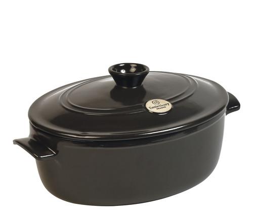 Emile Henry - Fusain (Pepper) Oval Stewpot - 91794547