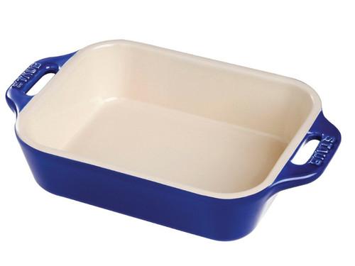 "Staub - Blue 7.5"" x 6"" Ceramic Rectangular Baking Dish - 40510-813"