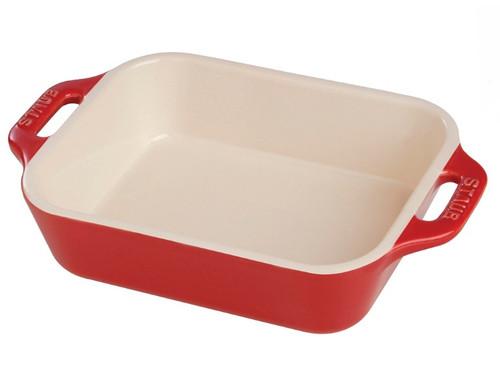 """Staub - Cherry 7.5"""" x 6"""" Ceramic Rectangular Baking Dish - 40510-812"""