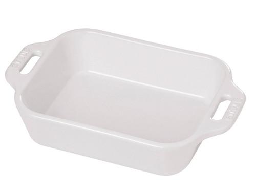 "Staub - White 10.5"" x 7.5"" Ceramic Rectangular Baking Dish - 40511-146"