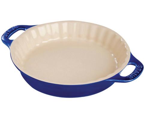 "Staub - Blue 11"" Ceramic Pie Dish - 40511-168"