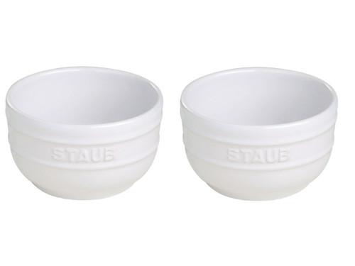 Staub - White 2-pc Ceramic Prep Bowl Set - 40511-136