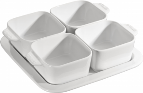 Staub - White Ceramic Appetizer Set - 40511-586