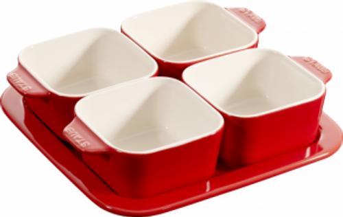 Staub - Cherry Ceramic Appetizer Set - 40511-119