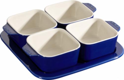 Staub - Blue Ceramic Appetizer Set - 40511-121