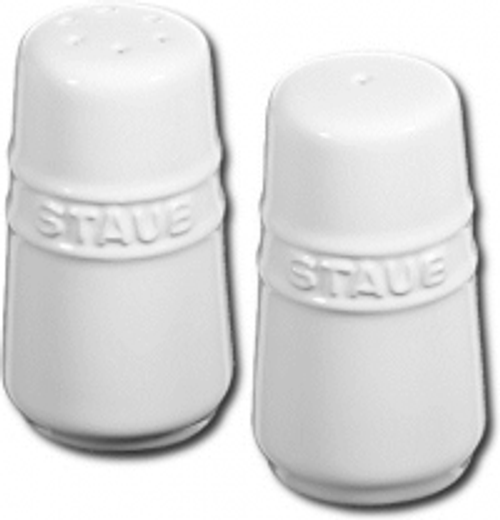 Staub - White Salt and Pepper Shakers - 40511-811