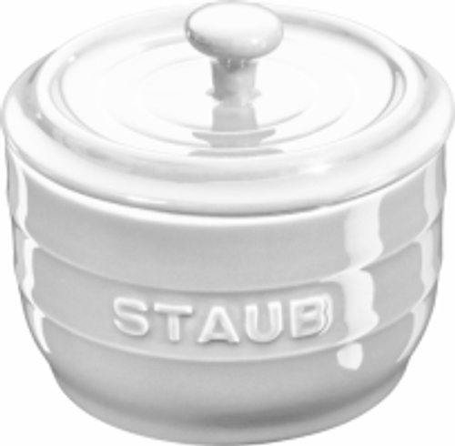Staub - White Ceramic Salt Crock - 40511-826