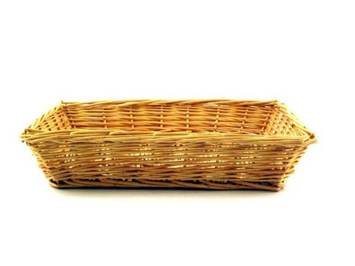 "Almac Imports - 15"" x 10"" x 2.5"" Rectangular Wicker Basket - 501A"