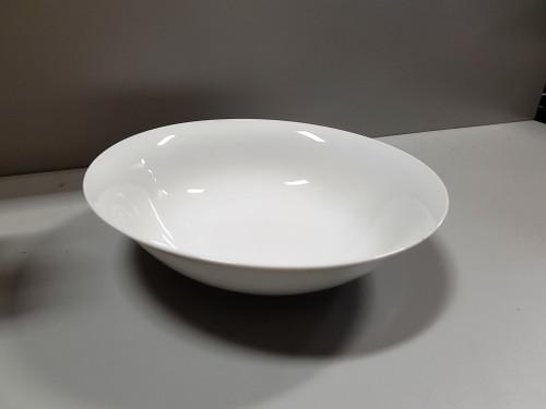 """S.T.A.N.D.A. - 9'"""" White Porcelain Salad Serving Bowl - 95009"""