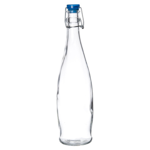 Libbey Glass - 33.8oz (1L) Water Bottle with Wire Bail Lid - 13150020