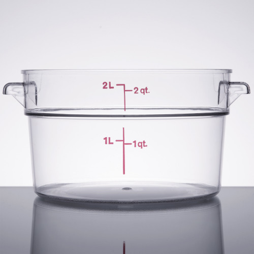 Cambro - 2QT Clear CamWear Round Container - RFSCW2135