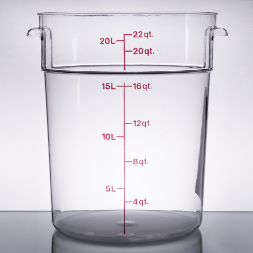 Cambro - 22QT Clear CamWear Round Container - RFSCW22135