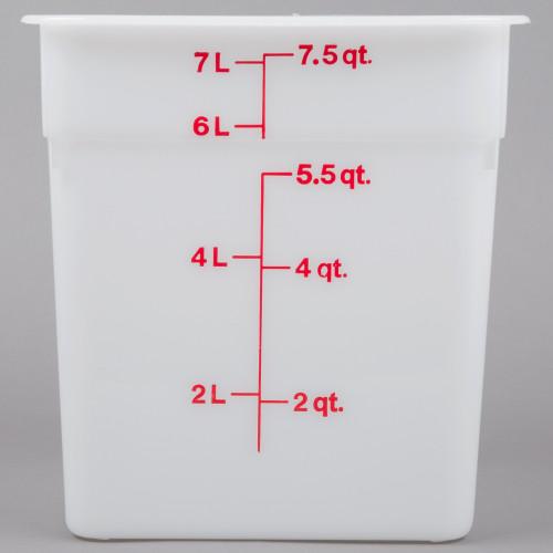 Cambro - 8QT Opaque CamWear Square Container - 8SFSP148