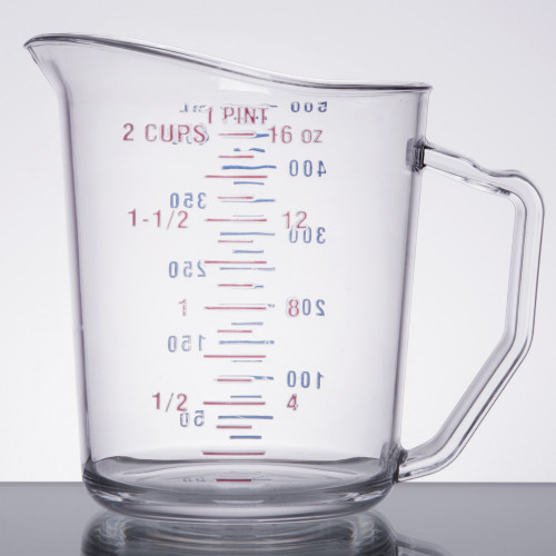 Cambro - .5QT (2 Cup) Clear CamWear Measuring Cup - 50MCCW135