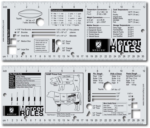 Mercer - Handy Two-Sided Culinary Reference Tool - M33241