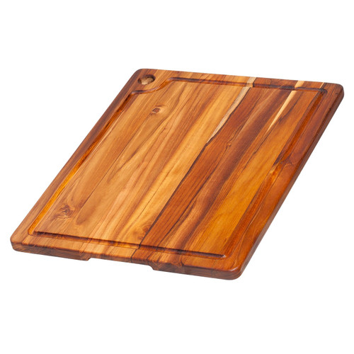 "Pro Teak - Rectangular Cutting Board with Juice Canal 18"" x 14"" - TH517"