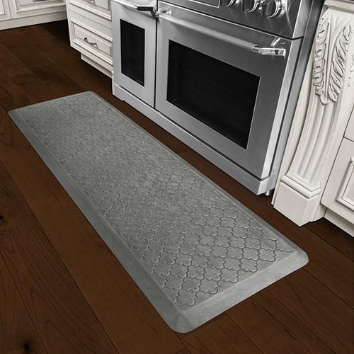 Wellness Mats Estates - 6' x 2' Trellis Essential Silver Leaf - PET62WMRSL